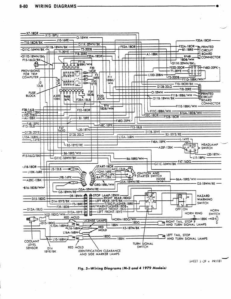 Dave s Place  79 M300M400 Dodge Class A    Chassis       Wiring       Diagram